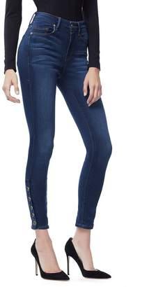 Good American Good Legs Crop Snap Hem - Blue155
