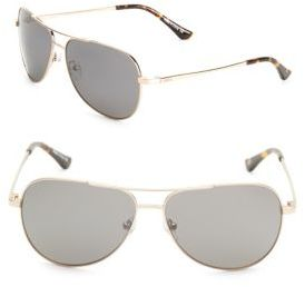 Johnston 59MM Aviator Sunglasses $199 thestylecure.com