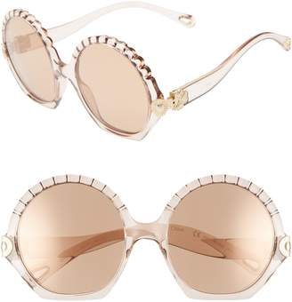 129d1c7553 Chloé Vera Seashell 56mm Round Sunglasses