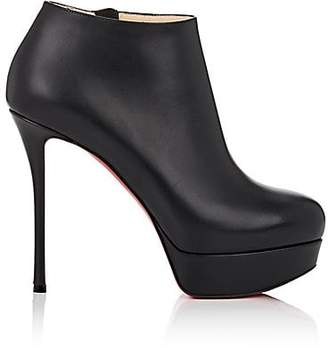 Christian Louboutin Women's Dirdibootie Leather Platform Ankle Booties - Black
