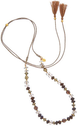 Chan Luu 18K Over Silver Gemstone Necklace