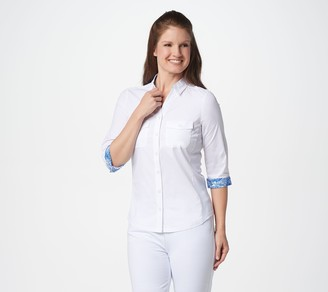 Women With Control Attitudes by Renee Knit-to-Fit Wrinkle Resistant Shirt