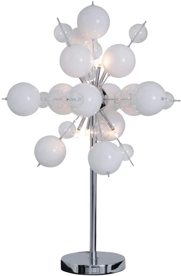 EEK A++, Tischleuchte Glasball Explosion Weiß