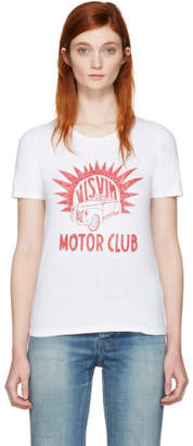 Visvim White Motor Club Basic Dry T-Shirt