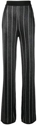 Balmain striped lurex trousers