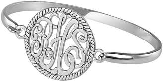 JCPenney FINE JEWELRY Personalized Sterling Silver 28mm Monogram Bangle