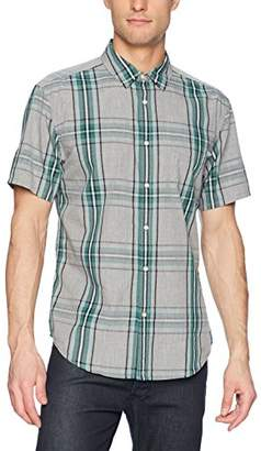 Life After Denim Men's Short Sleeve Slim Fit Toluca Poplin Plaid Shirt