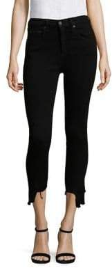 rag & bone/JEAN High-Rise Step Hem Capri Skinny Jeans/Black Hampton