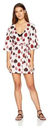 Oasis Wild Beachwear Women's Beachwear Swimwear Mid Thigh Printed Kimono Bikini Cover Up Small