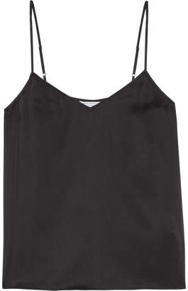 Equipment - Layla Washed-silk Camisole - Black $140 thestylecure.com