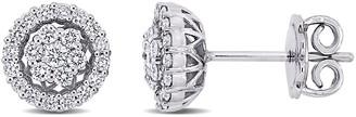 Diamond Select Cuts 14K 0.52 Ct. Tw. Diamond Halo Studs