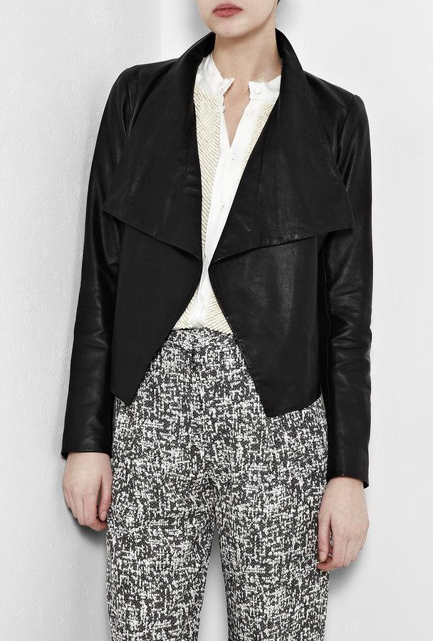 Theory Kanya Lightweight Leather Jacket