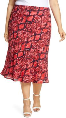 Gibson x Hot Summer Nights Roselyn Print Midi Skirt