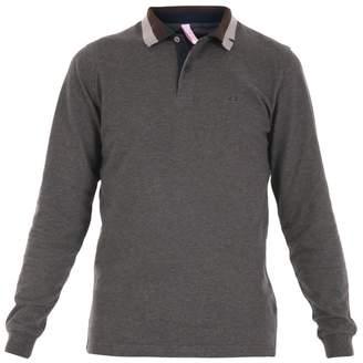 Sun 68 Cotton Jersey Long Sleeve Polo