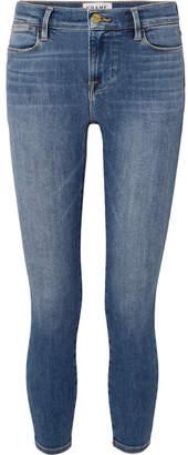 Frame Le High Cropped Skinny Jeans - Mid denim