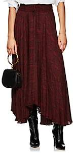 A.L.C. Women's Maya Snake-Print Silk Midi-Skirt - Red