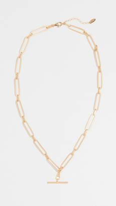 Maison Irem Chain T Bar Choker Necklace