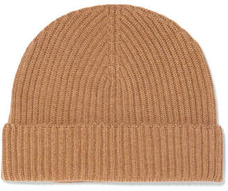 Johnstons of Elgin Ribbed Cashmere Beanie - Camel