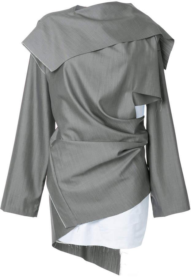 Moohong Kleid im Lagen-Look