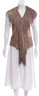 Ann Demeulemeester Fringe-Accented Leather Vest