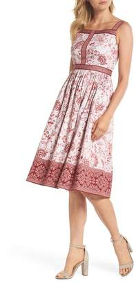 Gal Meets Glam Esme Floral Fit & Flare Dress