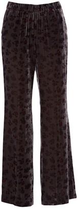 Schumacher Dorothee Grey Velvet Trousers