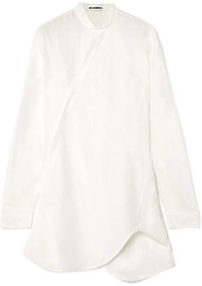 Jil Sander Asymmetric Satin Shirt - Off-white