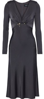 Cushnie et Ochs Magdelena Embellished Satin-Jersey Midi Dress