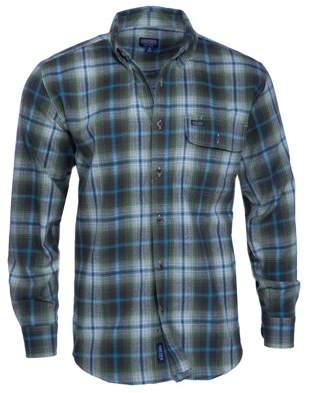 Smith's Workwear Men's Long Sleeve Plaid One Pocket Flannel Button-Up Shirt