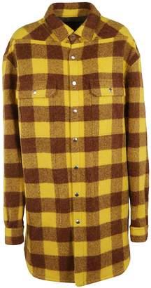 Rick Owens Oversized Plaid Jacket