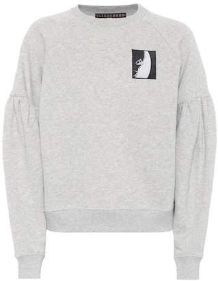 ALEXACHUNG Appliquéd cotton sweater