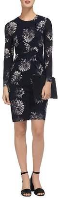 Whistles Brushstroke Floral-Print Sheath Dress