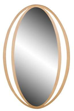 DecMode Decmode Contemporary 39 X 26 Inch Gold Metal Framed Wall Mirror