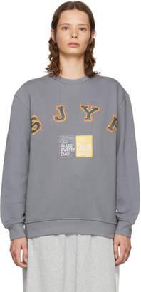 Sjyp Grey Logo Sweatshirt