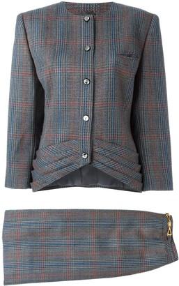 Louis Feraud Pre-Owned tweed skirt suit