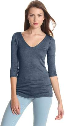 Michael Stars Women's Shine Double Front Tee