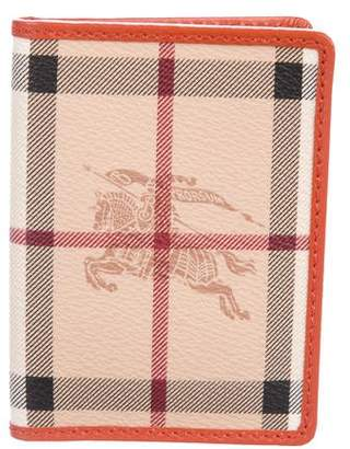 Burberry Haymarket Check Card Wallet