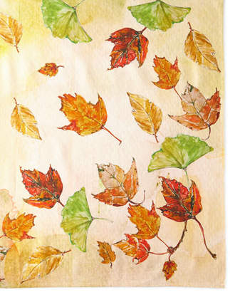 "April Cornell Autumn Leaves Tablecloth - 54"" x 54"""