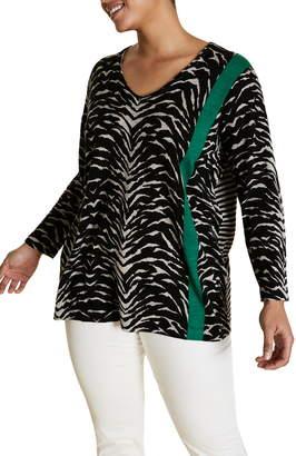 Marina Rinaldi Acciaio Pattern Sweater