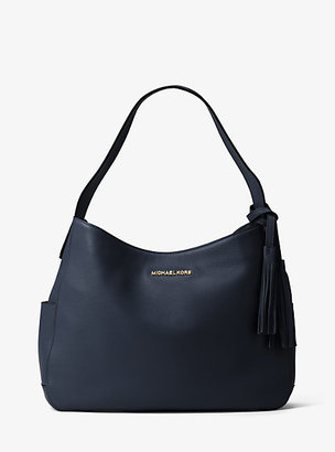 Michael Kors Ashbury Large Leather Shoulder Bag $228 thestylecure.com