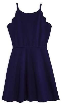 Aqua Girls' Scalloped Skater Dress, Big Kid - 100% Exclusive