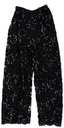Neiman Marcus Victor Costa x High-Rise Embellished Pants
