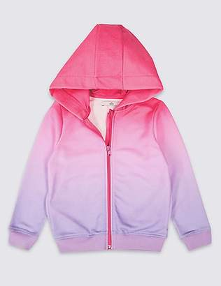 Marks and Spencer Ombre Zipped Sweatshirt (3-16 Years)