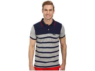 U.S. Polo Assn. Slim Fit Color Block Jersey Polo Men's Short Sleeve Pullover
