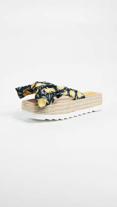 Jeffrey Campbell Printed Bow Platform Slides