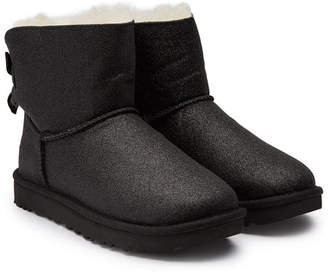 UGG Mini Bailey Bow Sparkle Boots with Shearling