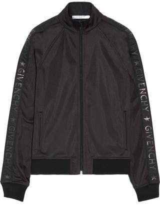 Givenchy - Printed Satin-jersey Jacket - Black $1,340 thestylecure.com