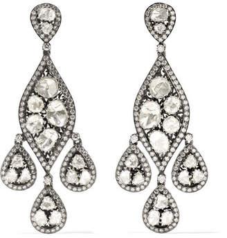 Amrapali 18-karat Gold, Sterling Silver And Diamond Earrings