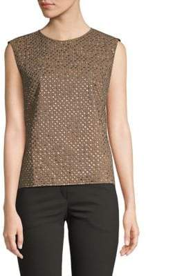 Brunello Cucinelli Sequined Shell Top