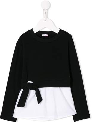 Il Gufo contrast long-sleeve top